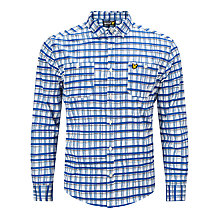Buy Lyle & Scott Hand Drawn Check Overshirt, White/Blue Online at johnlewis.com