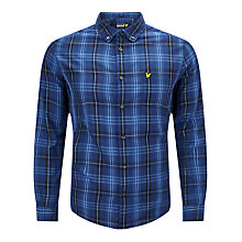 Buy Lyle & Scott Tartan Twill Shirt, Admiral Blue Online at johnlewis.com