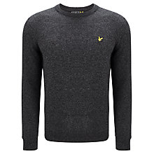 Buy Lyle & Scott Lambswool Crew Neck Jumper, Charcoal Online at johnlewis.com