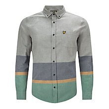 Buy Lyle & Scott Archive Stripe Twill Shirt, Light Grey Marl Online at johnlewis.com