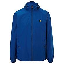 Buy Lyle & Scott Zip Through Hooded Jacket, Saltire Blue Online at johnlewis.com