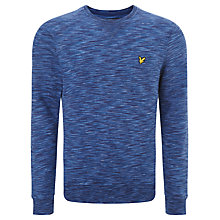 Buy Lyle & Scott Space Dyed Cotton Sweatshirt, Admiral Blue Online at johnlewis.com