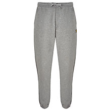 Buy Lyle & Scott Jersey Sweat Pants, Mid Grey Marl Online at johnlewis.com