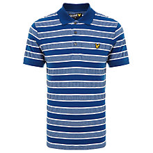 Buy Lyle & Scott Oxford Engineered Stripe Polo Shirt, Saltire Blue Online at johnlewis.com