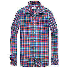 Buy Hilfiger Denim Arnold Small Check Shirt, Sky Captain Online at johnlewis.com
