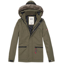 Buy Hilfiger Denim Donovan Hooded Parka Coat, Olive Night Online at johnlewis.com