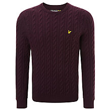 Buy Lyle & Scott Cable Knit Lambswool Jumper Online at johnlewis.com