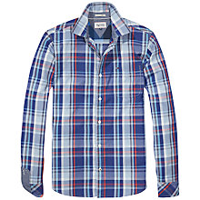 Buy Hilfiger Denim Albert Check Shirt, Blue Depths Online at johnlewis.com