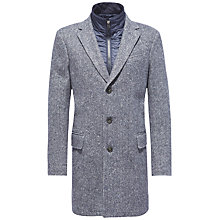 Buy Tommy Hilfiger Herringbone Chase Coat, Midnight Online at johnlewis.com