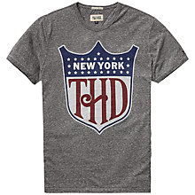 Buy Hilfiger Denim Tanouk Marl T-Shirt, Light Grey Heather Online at johnlewis.com