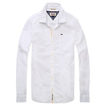 Buy Hilfiger Denim Teddy Shirt, Bright White Online at johnlewis.com