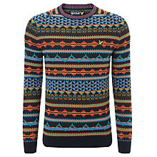 Buy Lyle & Scott All-Over Fair Isle Jumper, Multi Online at johnlewis.com