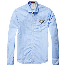 Buy Scotch & Soda Contrast Fold Pocket Shirt, Blue/White Stripe Online at johnlewis.com