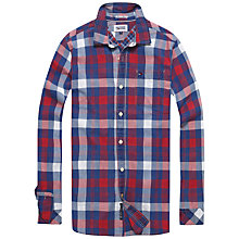 Buy Hilfiger Denim Arnold Bold Check Shirt, Red/Blue Online at johnlewis.com