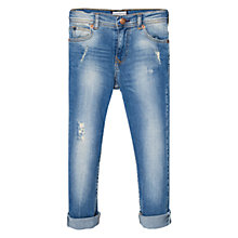 Buy Mango Kids Boys' Ripped Medium Wash Jeans, Blue Online at johnlewis.com