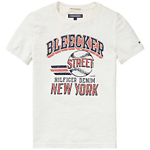 Buy Tommy Hilfiger Boys' Street Short Sleeve T-Shirt, White Online at johnlewis.com