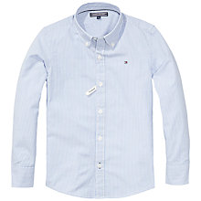 Buy Tommy Hilfiger Boys' Parkfield Stripe Long Sleeve Shirt, Sky Blue Online at johnlewis.com