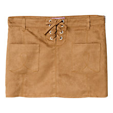 Buy Mango Kids Girls' Faux Suede Skirt, Tan Online at johnlewis.com