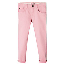 Buy Mango Kids Girls' Colour Pop Jeans, Pastel Pink Online at johnlewis.com