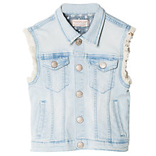 Buy Mango Kids Girls' Denim Gilet, Open Blue Online at johnlewis.com