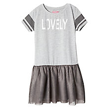 Buy Mango Kids Girls' Tull T-Shirt-Dress, Medium Grey Online at johnlewis.com
