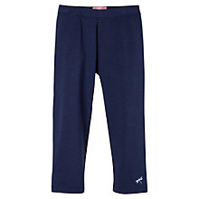 Buy Mango Kids Girls' Stretch Cotton Leggings, Navy Online at johnlewis.com
