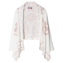 Buy Mango Kids Girls' Paisley Waterfall Cardigan, Natural White Online at johnlewis.com