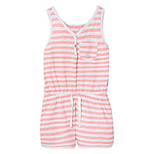Buy Mango Kids Girls' Stiped Short Jumpsuit, Pastel Pink Online at johnlewis.com