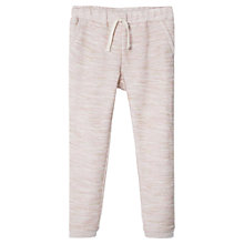 Buy Mango Kids Girls' Metallic Thread Joggers, Pale Pink Online at johnlewis.com