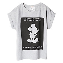 Buy Mango Kids Girls' Disney Mickey Mouse T-Shirt, Pastel Grey Online at johnlewis.com
