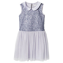 Buy Mango Kids Girls' Sequin Tulle Dress, Lavender Online at johnlewis.com