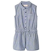 Buy Mango Kids Girls' Striped Playsuit, Blue Online at johnlewis.com