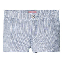 Buy Mango Kids Girls' Stripe Linen Shorts, Blue/White Online at johnlewis.com