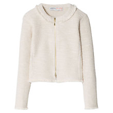 Buy Mango Kids Girls' Metal Thread Jacket, Natural White Online at johnlewis.com