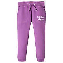 Buy Mango Kids Girls' 'London Girls' Joggers, Medium Purple Online at johnlewis.com