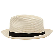 Buy Reiss Salt Woven Panama Hat Online at johnlewis.com