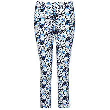 Buy Pure Collection Floral Print Capri Trousers, Multi Online at johnlewis.com