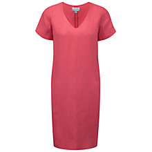 Buy Pure Collection Linen Laundered Dress, Coral Pink Online at johnlewis.com