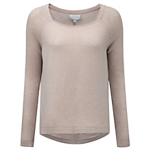 Buy Pure Collection Cashmere Curved Hem Sweater Online at johnlewis.com