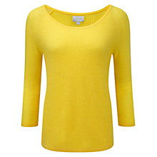 Buy Pure Collection Gassato Cashmere Sweater, Buttercup Online at johnlewis.com