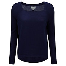 Buy Pure Collection Cashmere Curved Hem Jumper Online at johnlewis.com