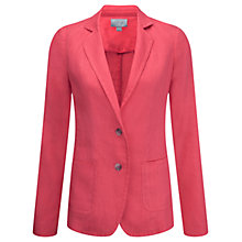 Buy Pure Collection Linen Laundered Jacket, Coral Pink Online at johnlewis.com