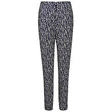 Buy Pure Collection Printed Trousers, French Navy Online at johnlewis.com
