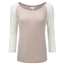 Buy Pure Collection Gassato Cashmere Jumper, Iced Frappe / Soft White Online at johnlewis.com