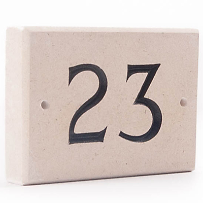 The House Nameplate Company Personalised Portland Stone House Number, 1 Digit