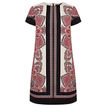 Buy Oasis Paisley Shift Dress, Multi Black Online at johnlewis.com