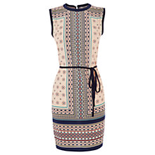 Buy Oasis Moroccan Tile Shift Dress, Cream Multi Online at johnlewis.com
