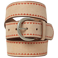 Buy White Stuff Lost Island Belt, Natural Online at johnlewis.com