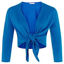 Buy Kaliko Tie Front Shrug, Turquoise Online at johnlewis.com