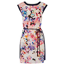 Buy Oasis Watercolour Print Dress, Multi Pink Online at johnlewis.com